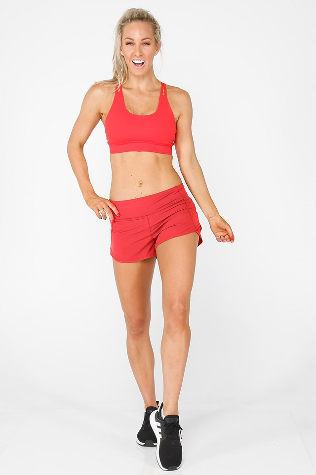 Activate Shorts Bright Red