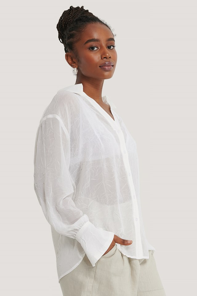 Loose Fitted Shirt Offwhite