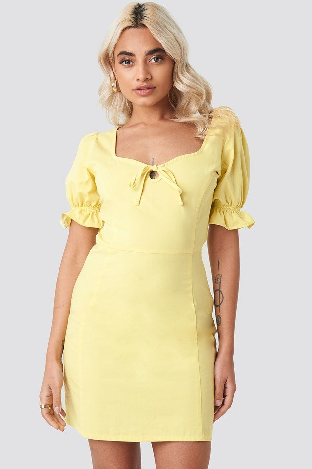 Sweetheart Mini Dress Yellow