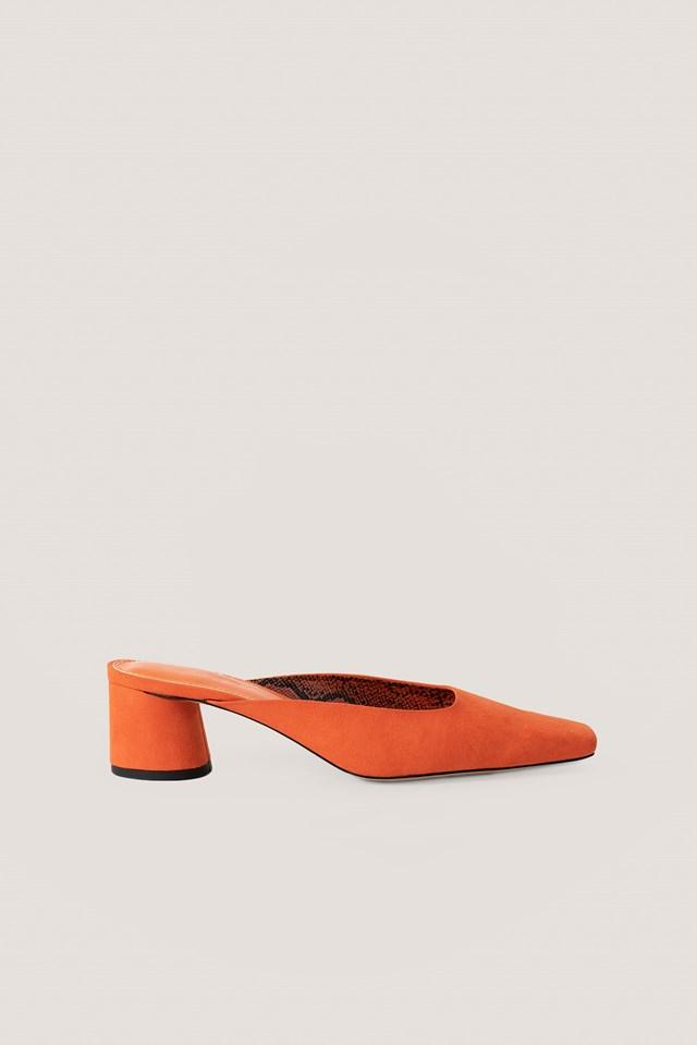 Orange Ballerina Mules