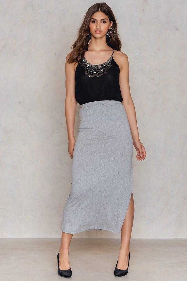 Saga maxi skirt Grey Melange