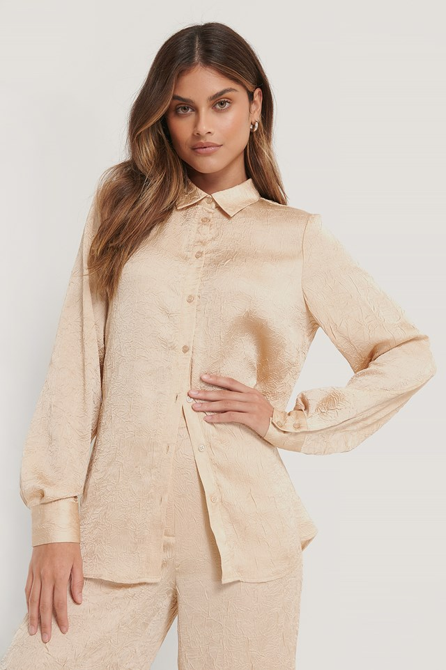 Crinkled Shirt Beige