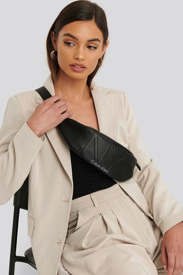NY Shaped Waistbag Md Black
