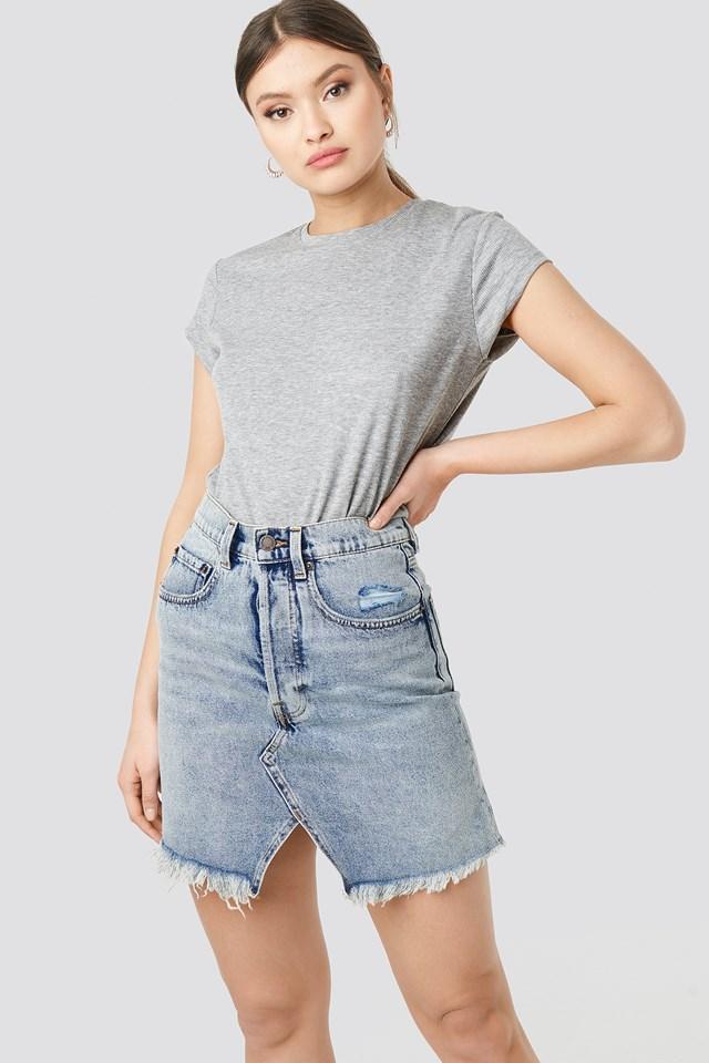 Shrunken Skirt Blue