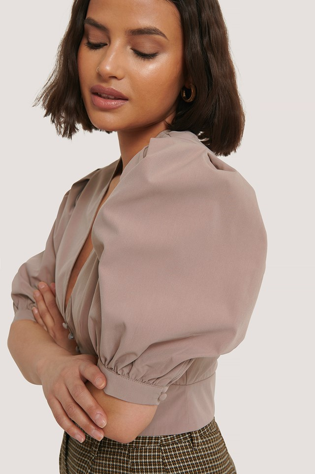 Balloon Sleeve Blouse Mauve