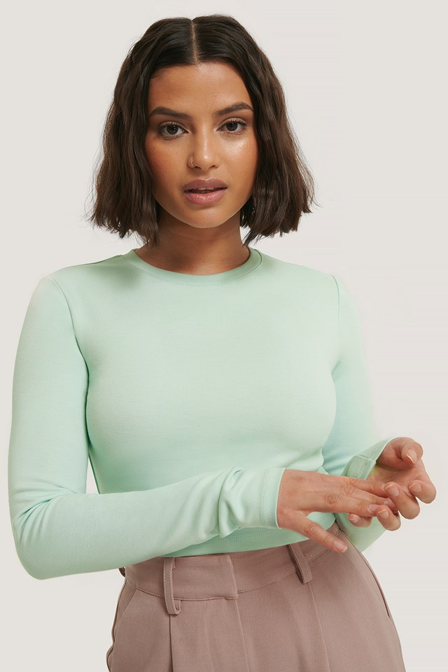 Long Sleeve Jersey Top Mint