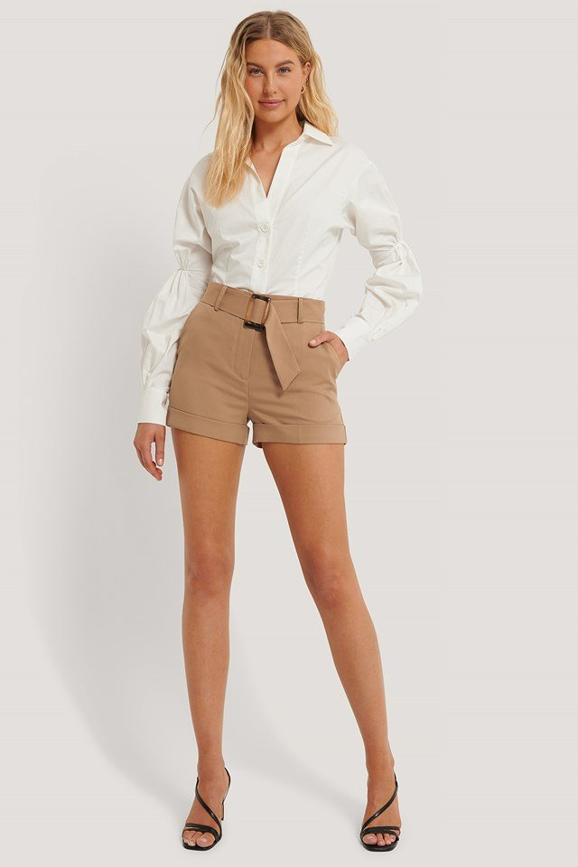 Brown Suit Shorts
