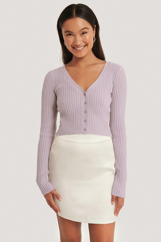 Satin Mini Skirt White