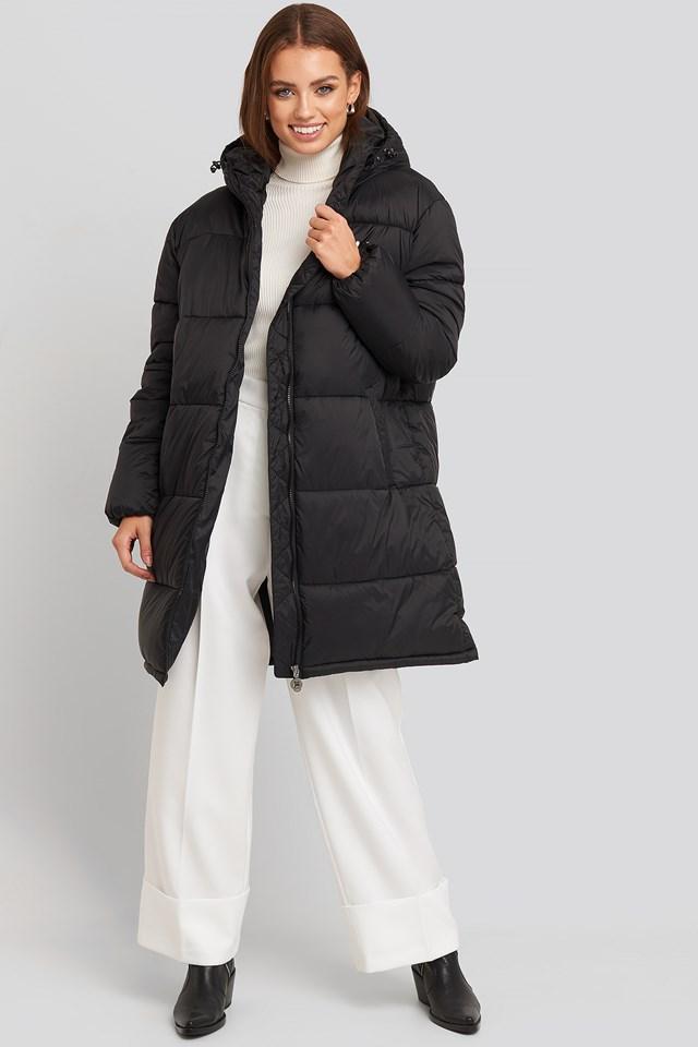 Bronwen Puff Hood Jacket Black
