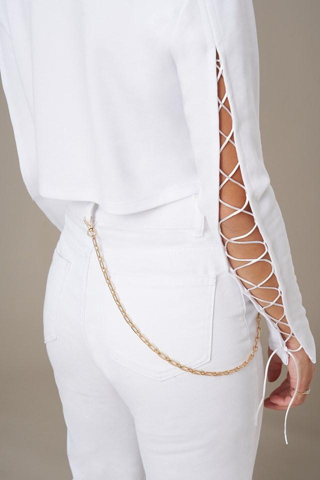 Chain Detail Belt Gold