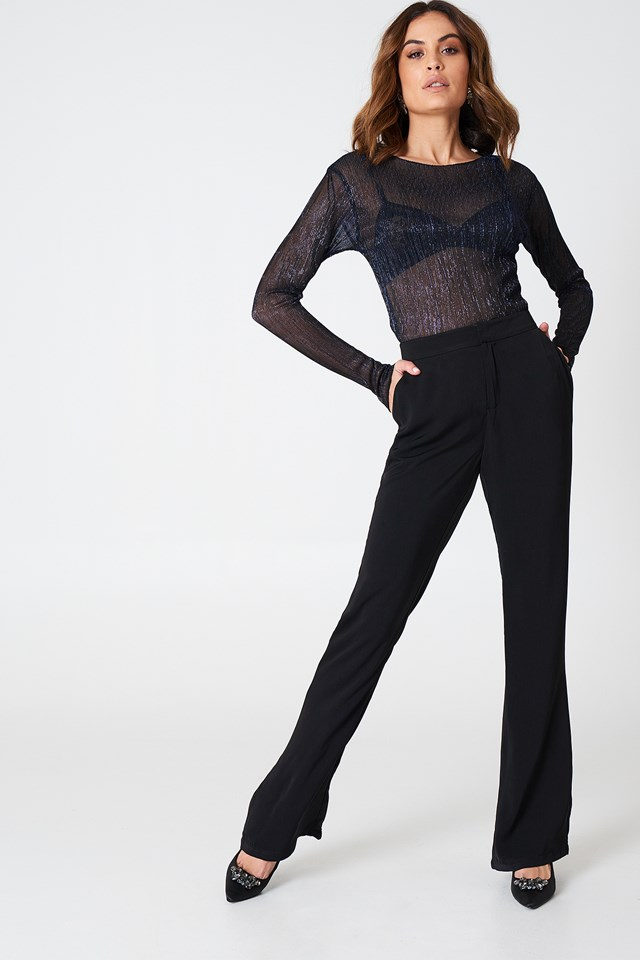 Bootcut Suiting Pants Black