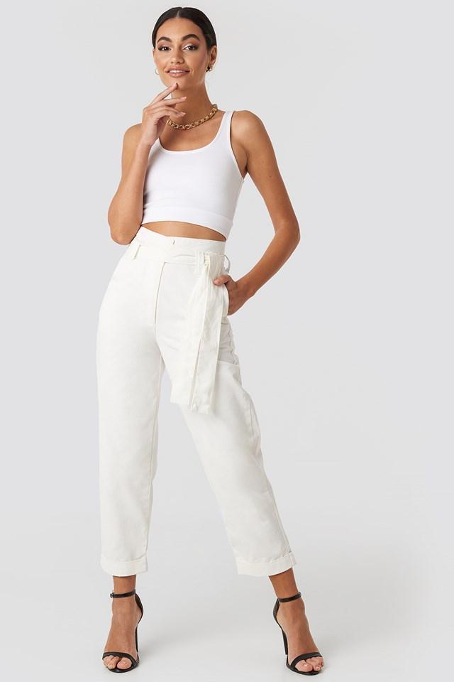 Luźne Spodnie Off White