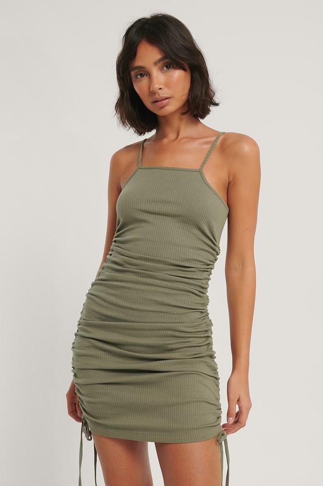 Drawstring Dress Khaki
