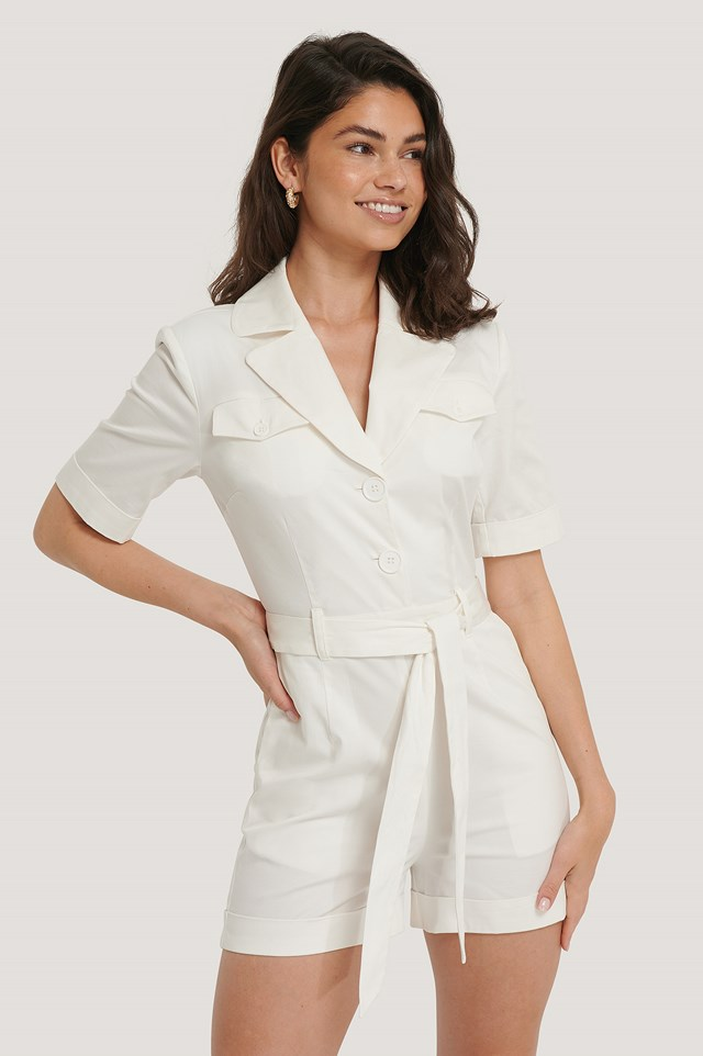 Padded Jumpsuit Offwhite