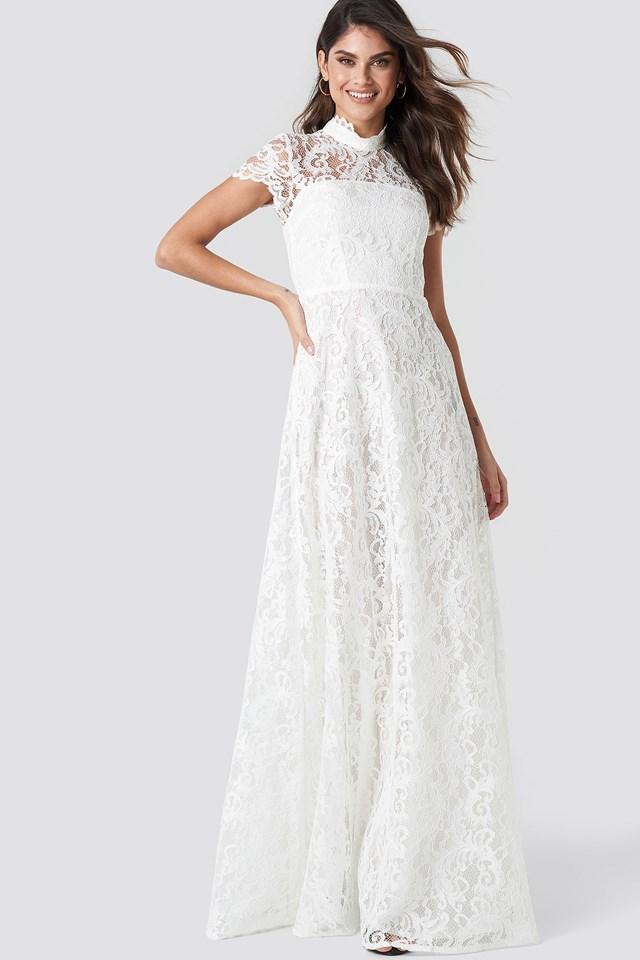 Ivory Długa Sukienka