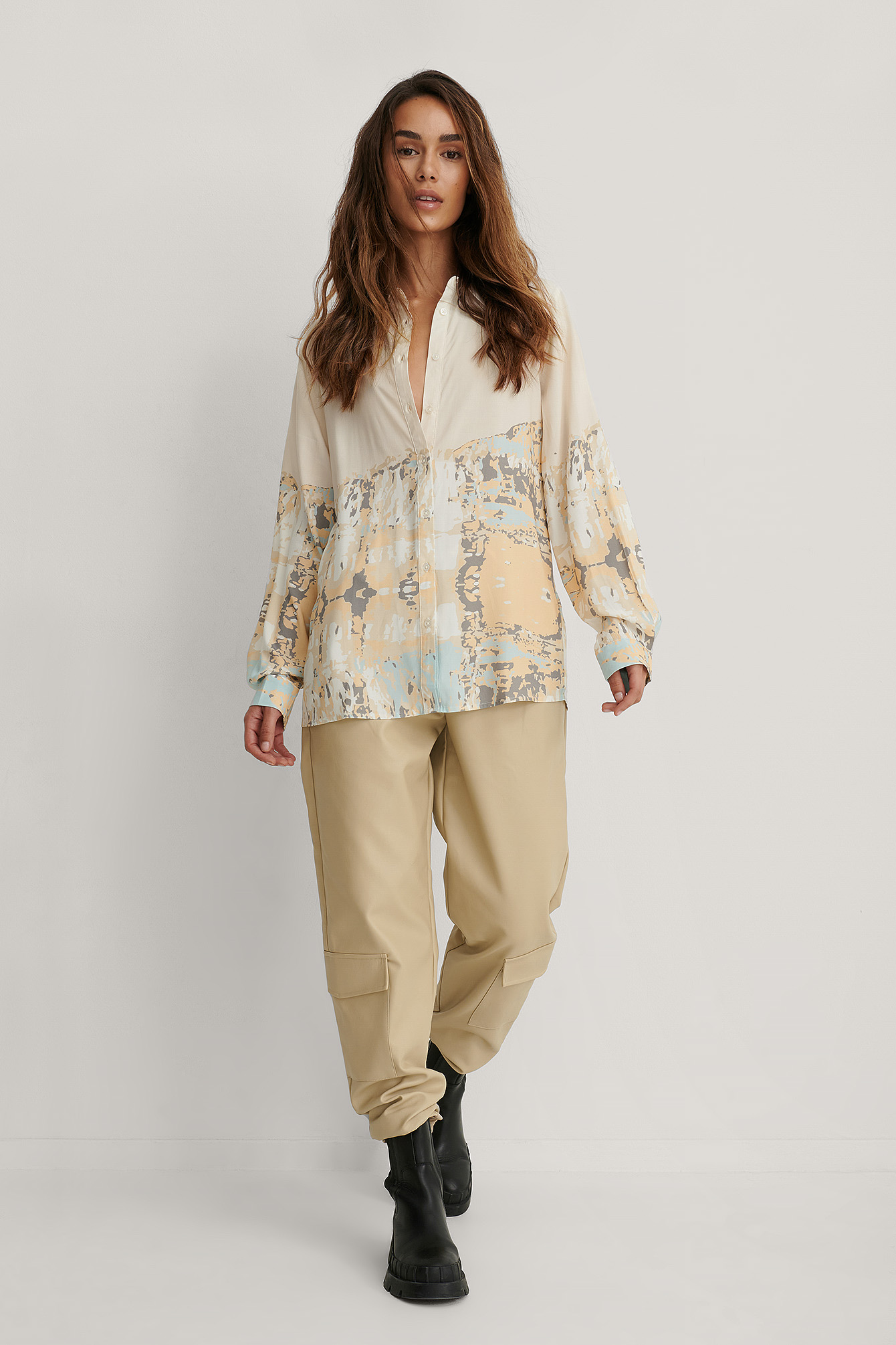 Print Printed Oversized Shirt