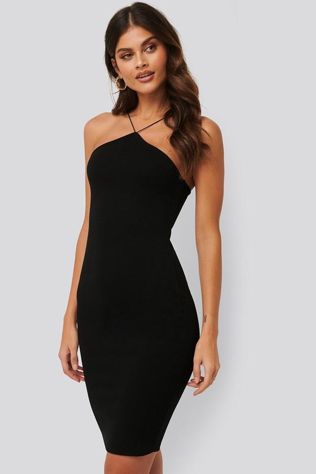 Bodycon Strap Dress Black