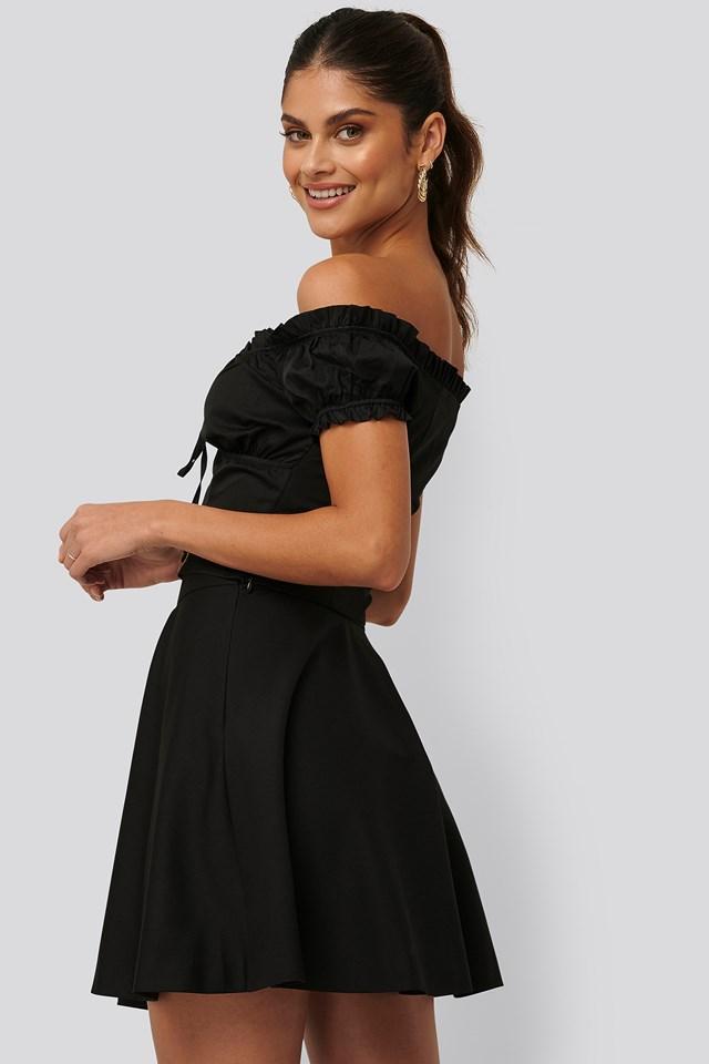 Flowy Mini Skirt Black