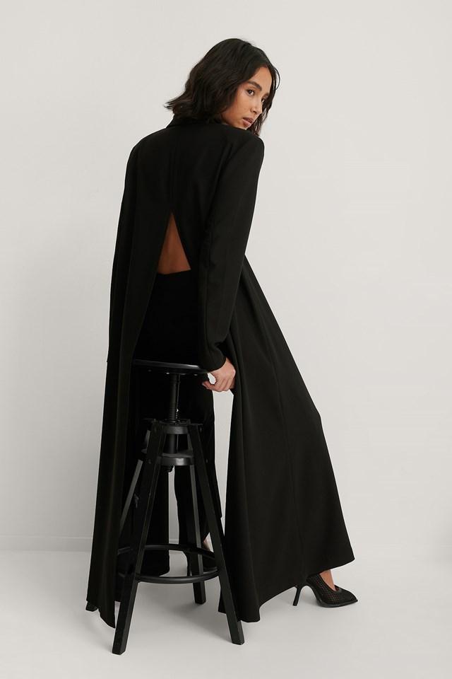 Black Maxi Blazer Coat