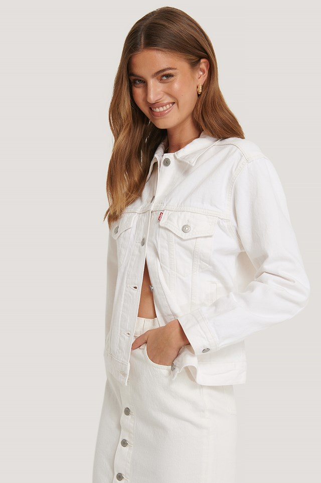 Exboyfriend Trucker Jacket White