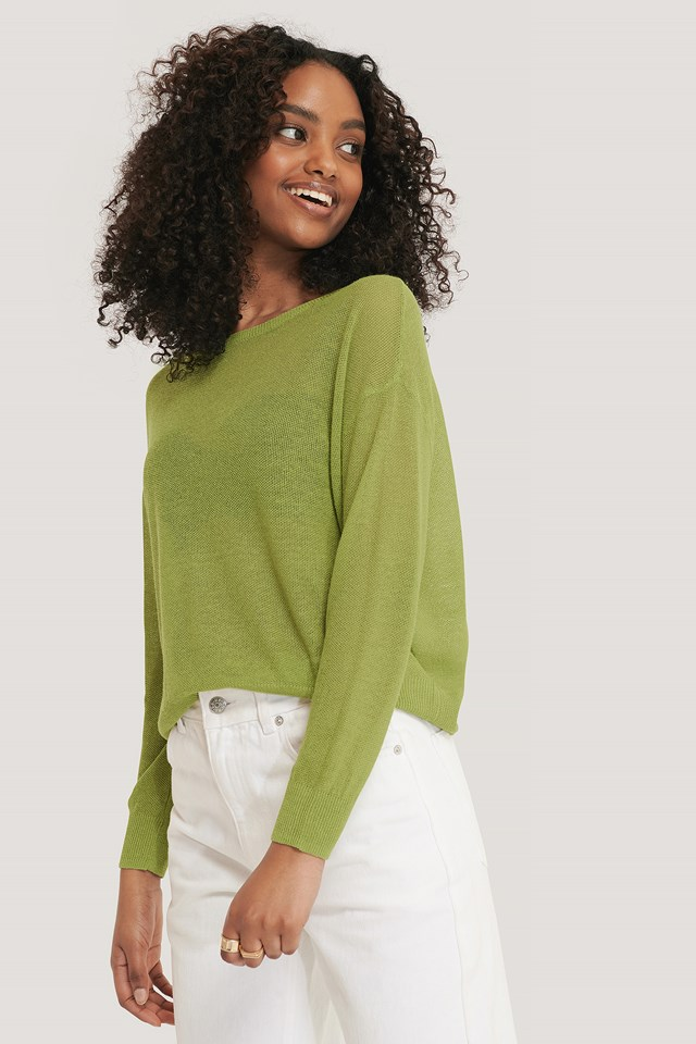 Claudia Sweater Bright Green