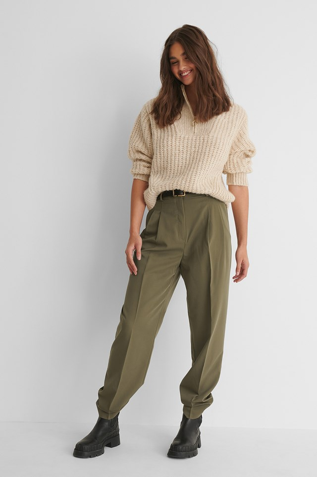 Isabel Trousers Khaki