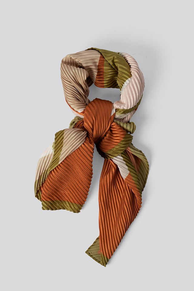 Shape Neck Scarf Pastel Orange