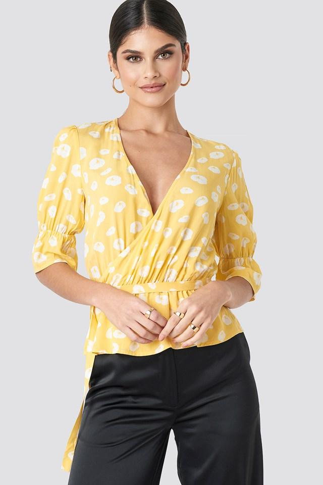 Puff Arm Shirt Yellow