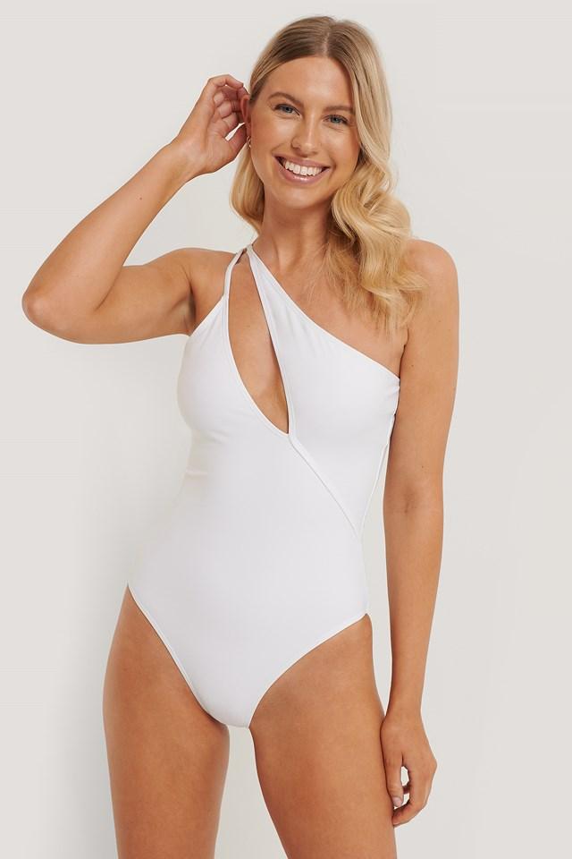 Strap Swimsuit White