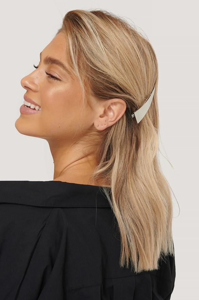 2-Pack Big Hairclips Silver