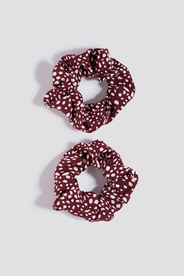 2-pack scrunchie Red/Black