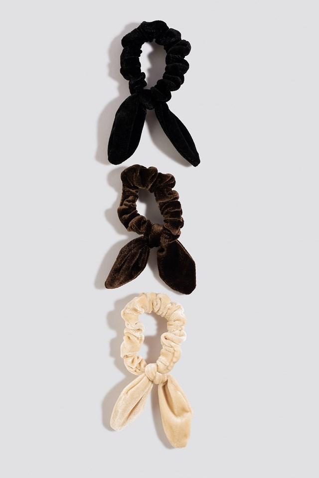 Mixed 3-Pack Mini Bow Scrunchies