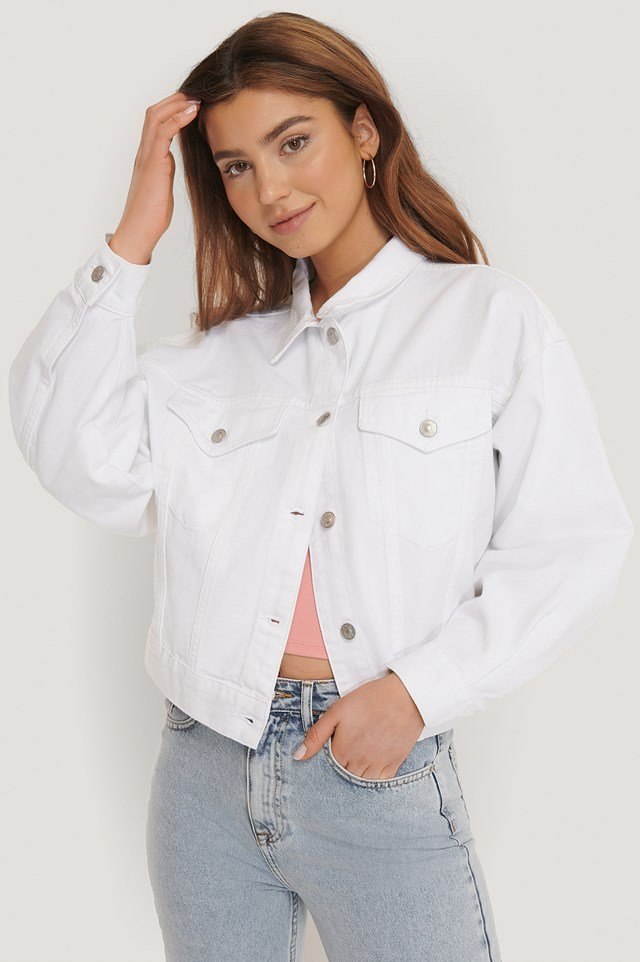 80's Trucker Denim Jacket White