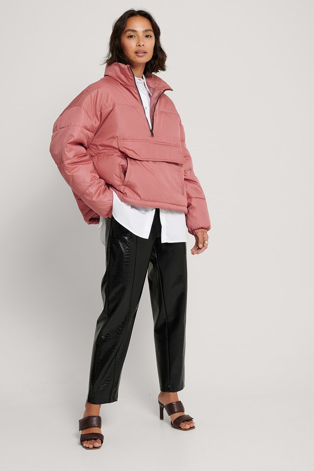 Anorak Padded Jacket Dusty Pink