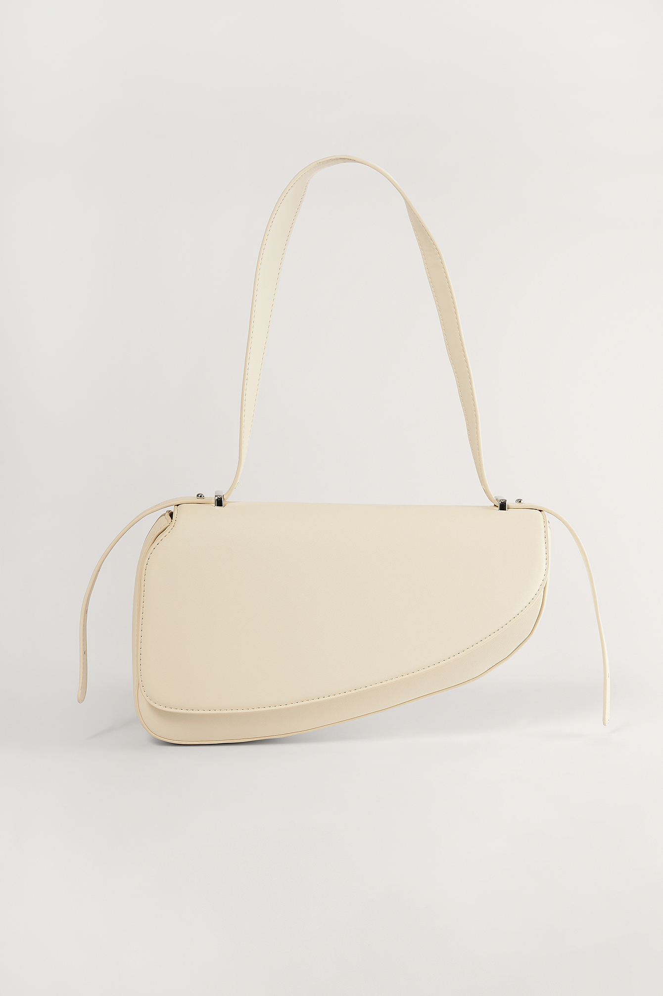 Offwhite Asymmetric Saddle Bag