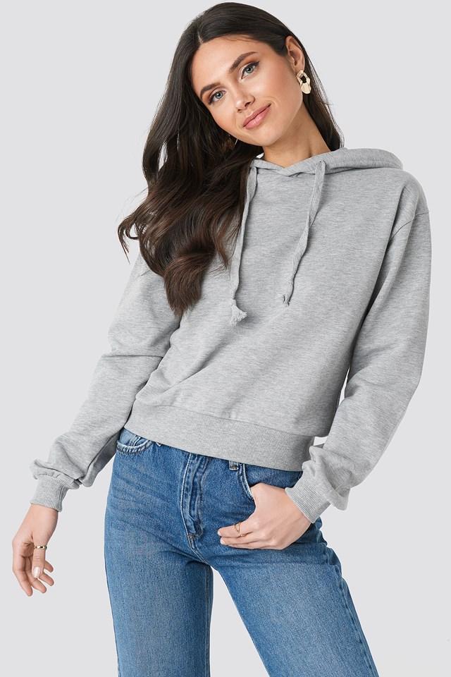 Grey Mel Basic Hoodie