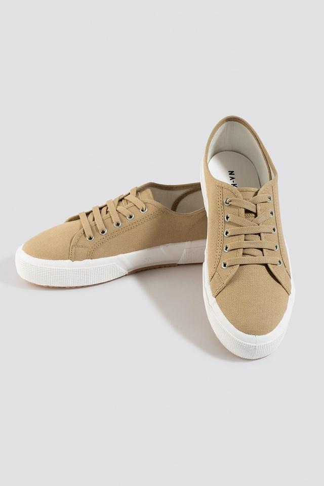 Basic Canvas Sneakers Khaki
