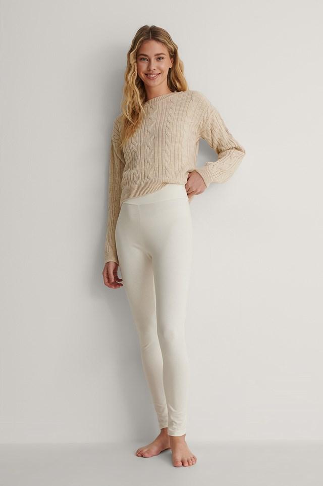 Offwhite Basic Highwaist Leggings