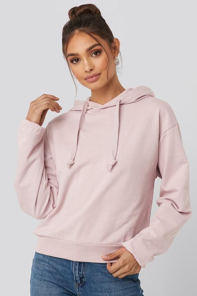 Dusty Light Pink Basic Hoodie