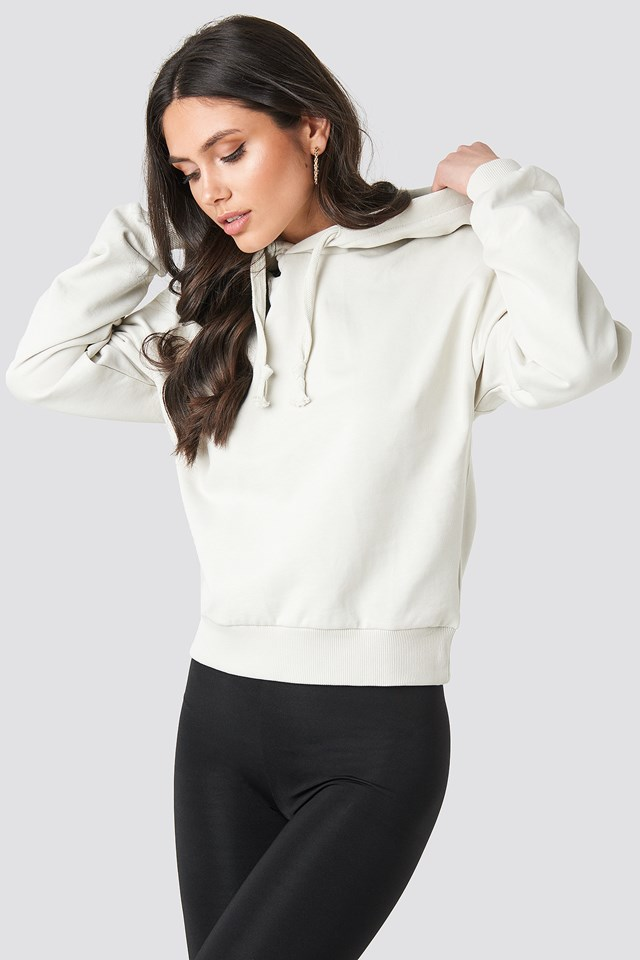 Dusty Light Beige Basic Hoodie