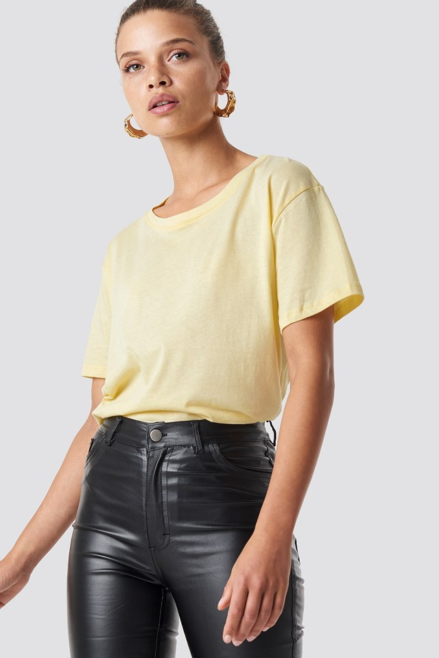 Yellow Basic Oversized Tee