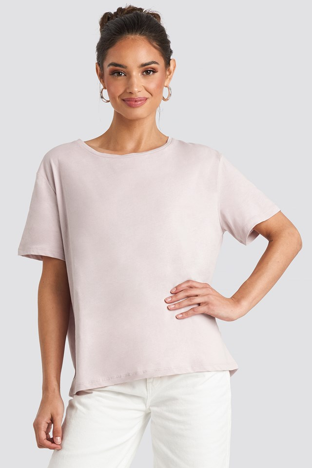 Dusty Light Pink Basic Oversized Tee