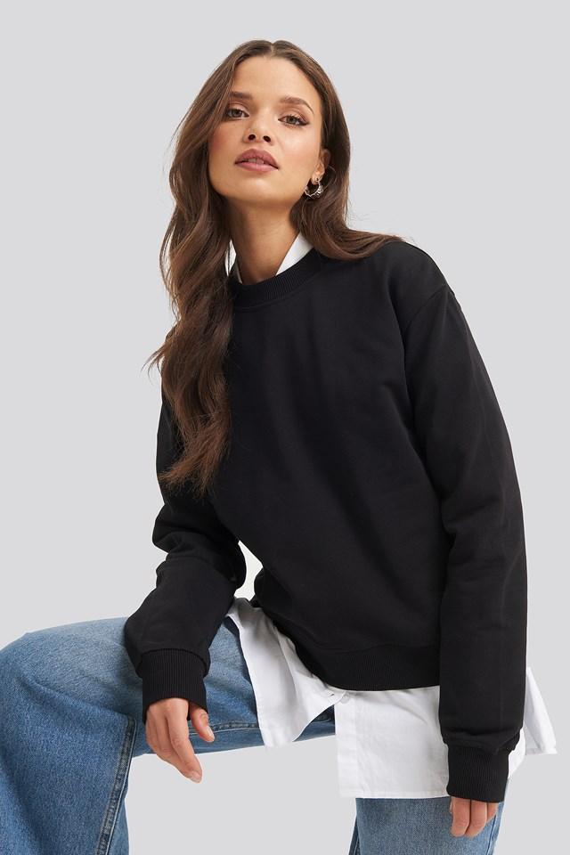 Prosty Sweter Black