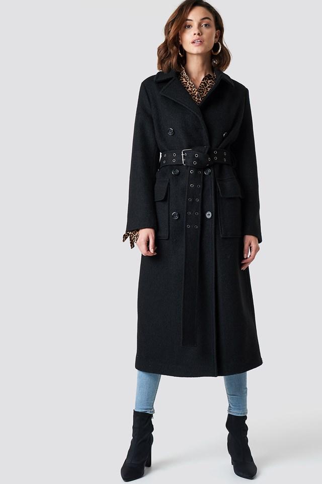 Belted Coat Black