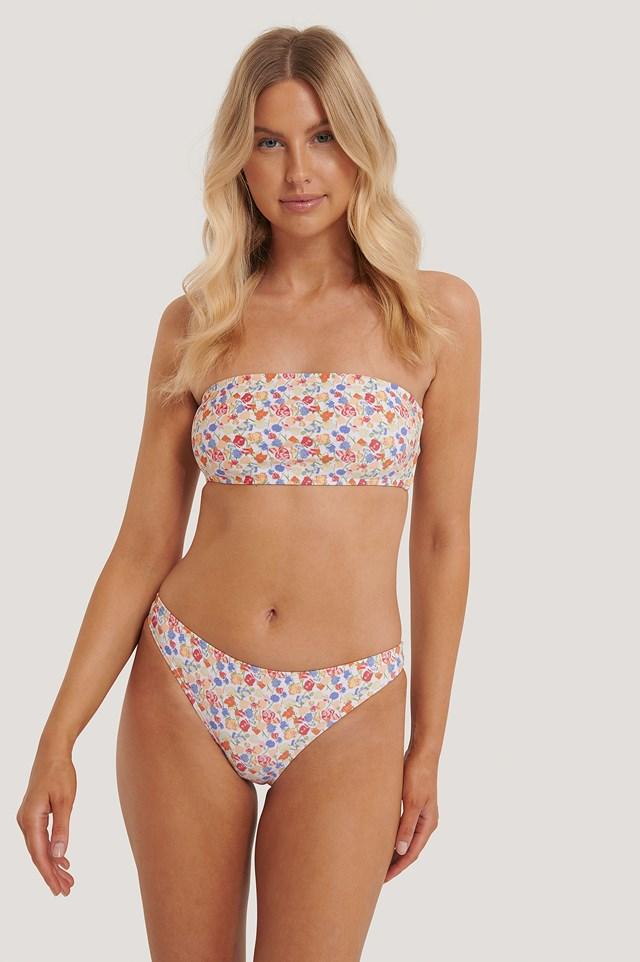 Pink Flower Bikini Panty