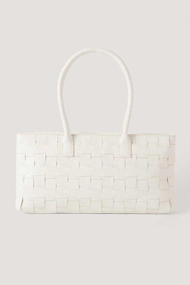 Braided Shoulder Bag White