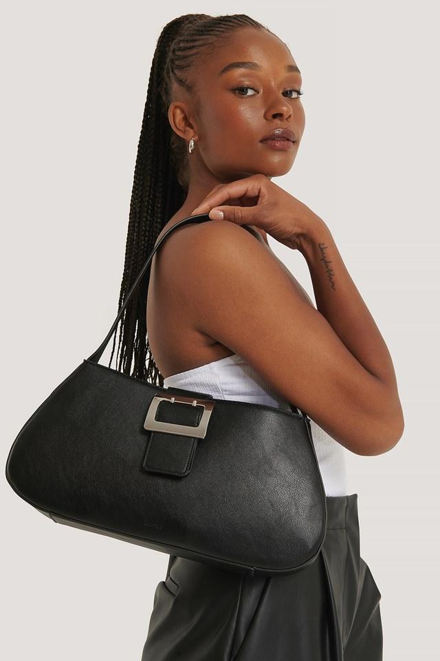 Buckle Shoulder Bag Black