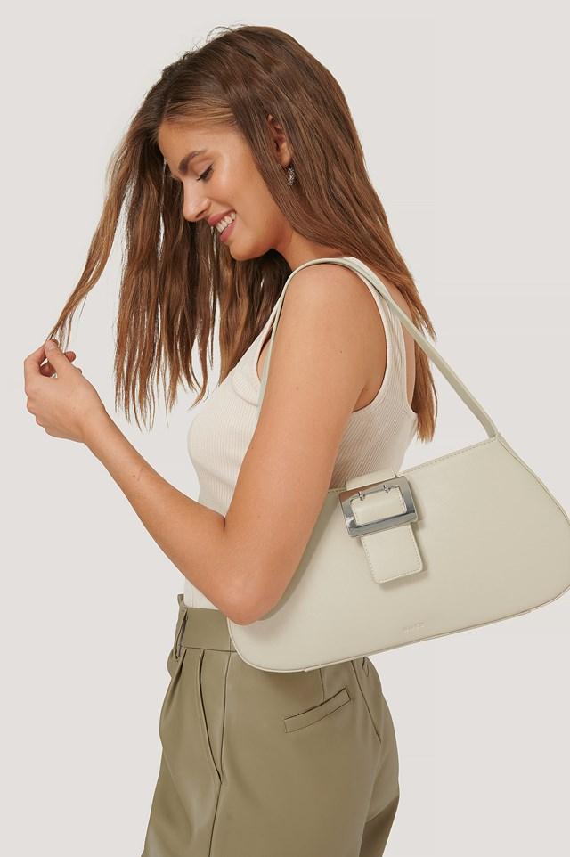 Buckle Shoulder Bag Cream