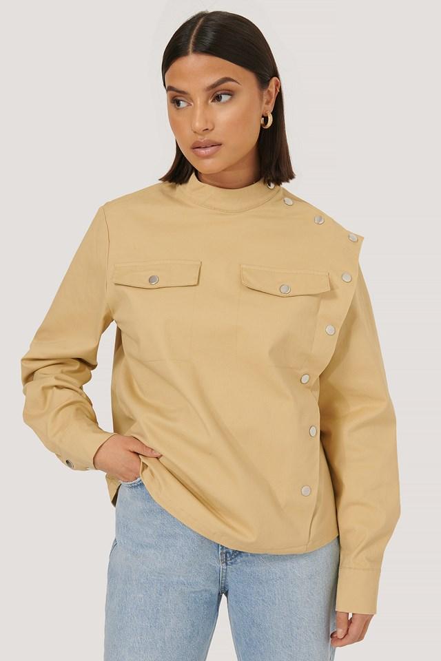 Button Shirt Beige