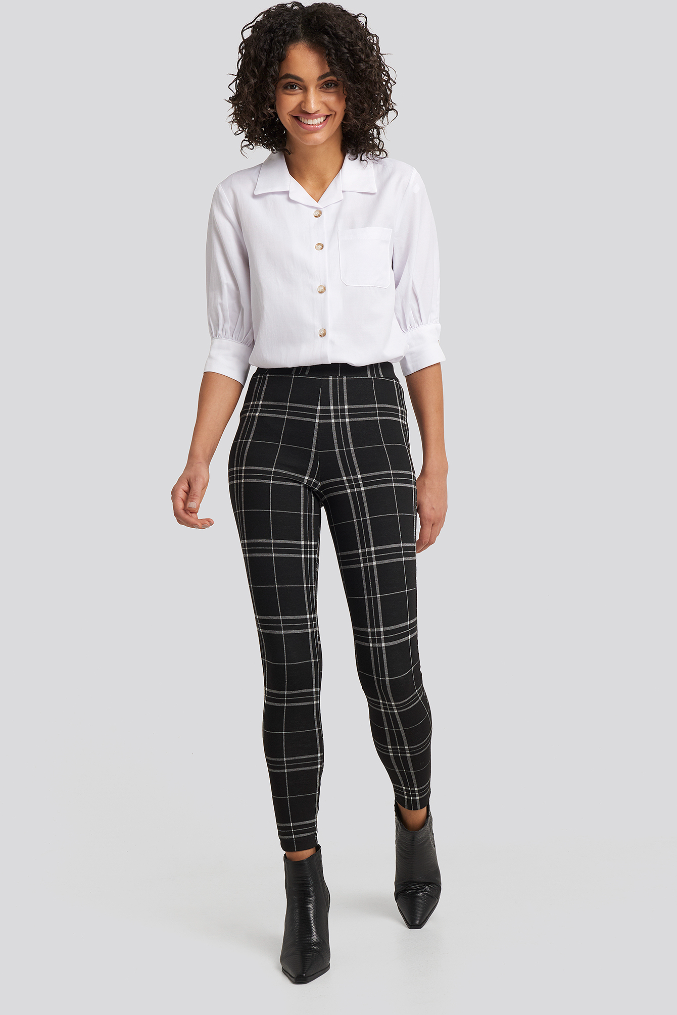 Black/White Check Leggings